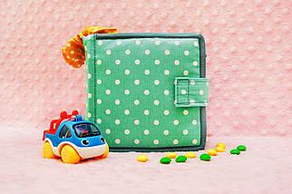 Мягкие книжки для детей до года, Книга из ткани Handmade, 10 страниц, фото 2