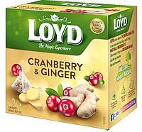 Чай фруктовый Loyd Cranberry & Ginger клюква и имбирь 20 пирамидок 40 г Польша