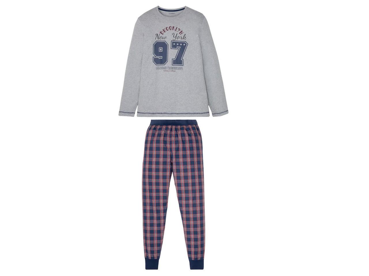 Мужские пижамы LIVERGY®, 1 комплект (XL (56/58), серый)