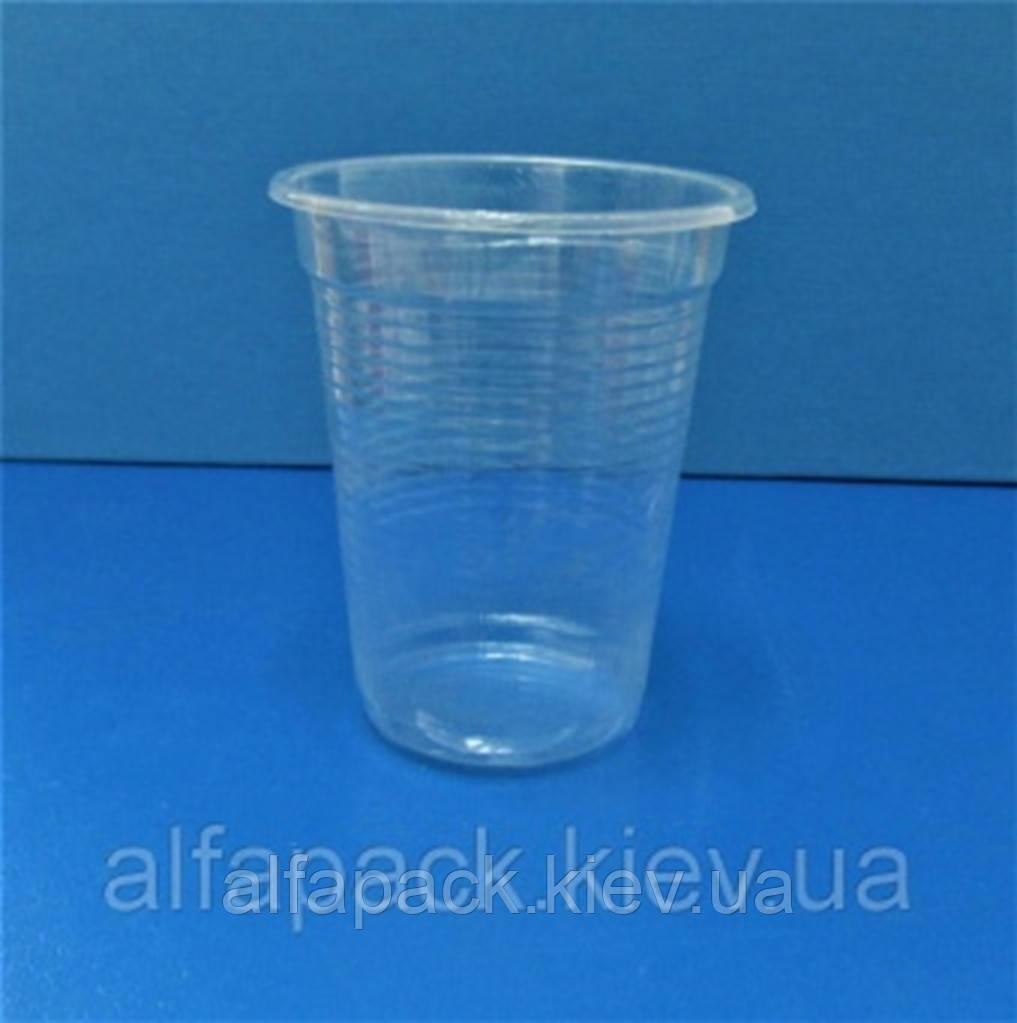 Стакан пластиковий прозорий PP 100 мл, упаковка 100 шт