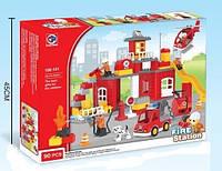 Конструктор Fare Station 188-101 Пожарная станция, 90 дет., копия LEGO Duplo, фото 1