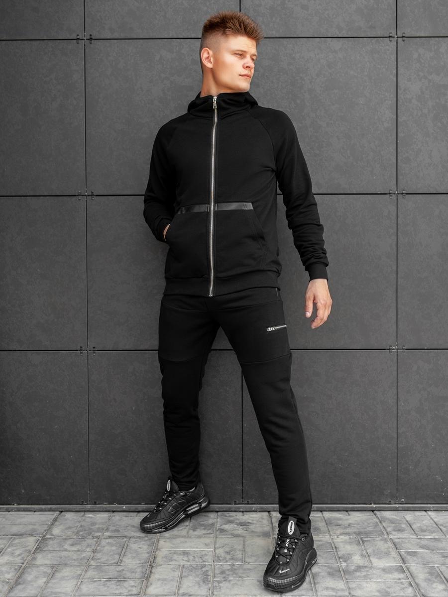 Спортивный костюм  BEZET Zipper black'20 - M