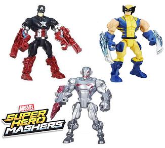 """Набір розбірних фігурок 3в1 Халк, Ультрон, Капітан Америка """"Машерс"""" - Mashers, Hasbro"""