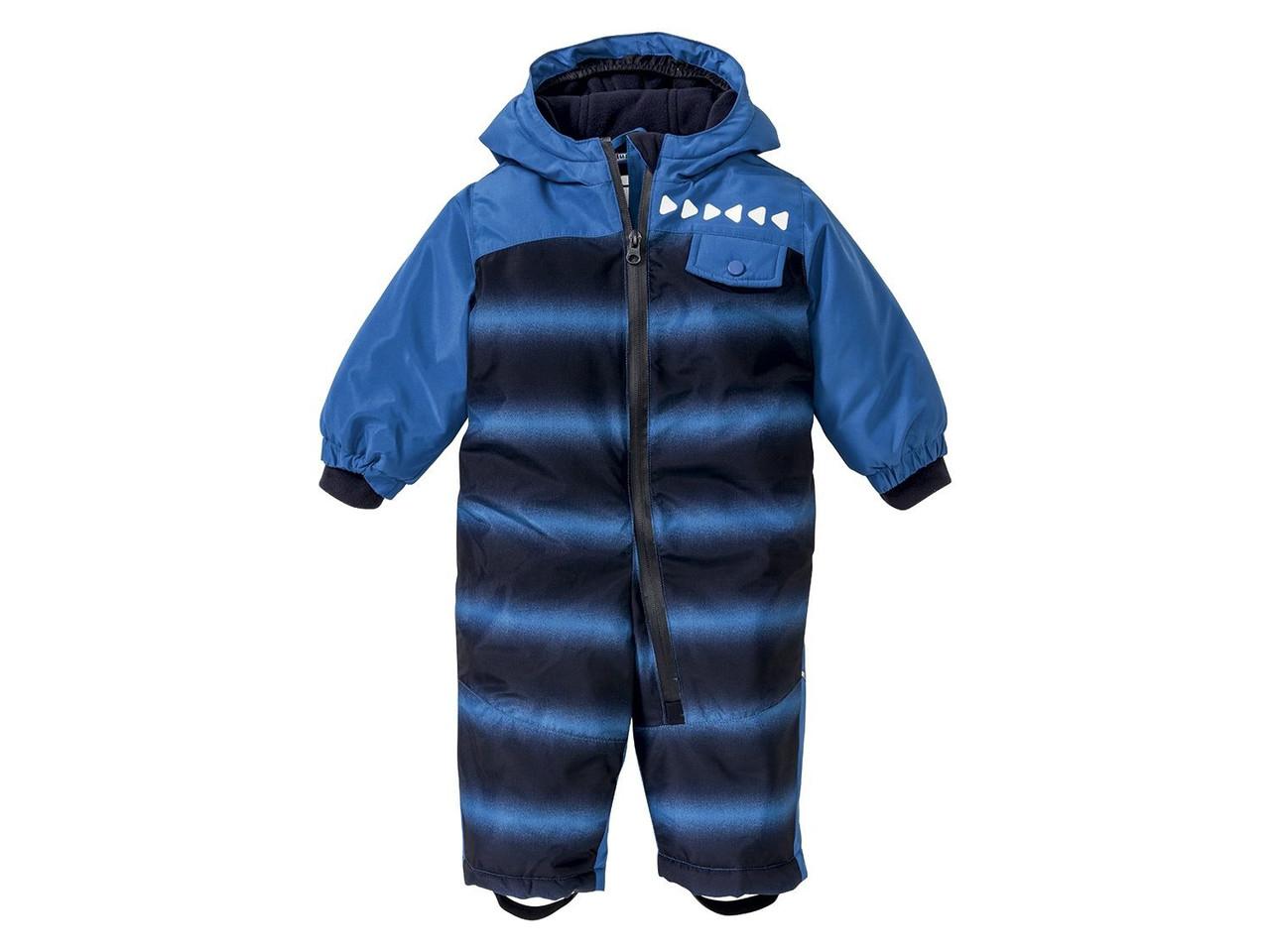 Зимний комбинезон со снегозадержателем LUPILU® Boys (98, синий с принтом)