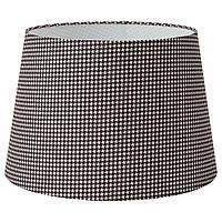 IKEA LAGVIND Абажур, клетчатый черный/бежевый (604.877.86), фото 1