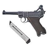 Стартовый пистолет ME Luger P-08 9 мм (Parabellum), фото 4