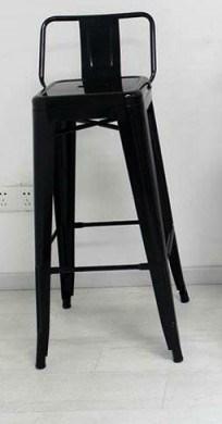 Барный табурет со спинкой Толикс Back черный металл от SDM Group, хокер