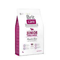 Сухий корм Brit Care (Брит Кеа) Junior Large Breed Lamb & Rice для цуценят і молодих собак великих порід 3 кг