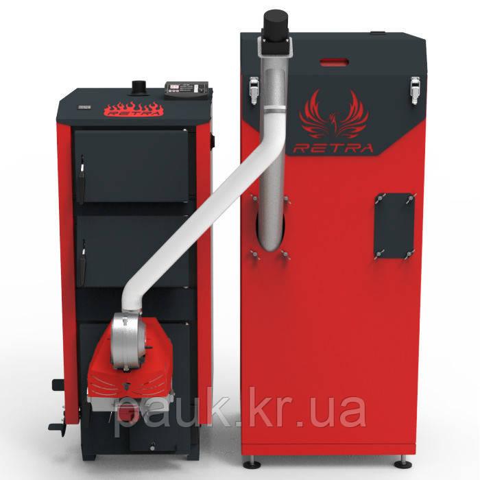 Автоматизированный котел 20 кВт Ретра-5М Comfort, твердотопливный котел