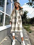 Пальто в клетку кашемировое женское. Размер: 42-46. Цвет: мокко, оливка., фото 3