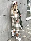 Пальто в клетку кашемировое женское. Размер: 42-46. Цвет: мокко, оливка., фото 4