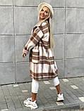 Пальто в клетку кашемировое женское. Размер: 42-46. Цвет: мокко, оливка., фото 6