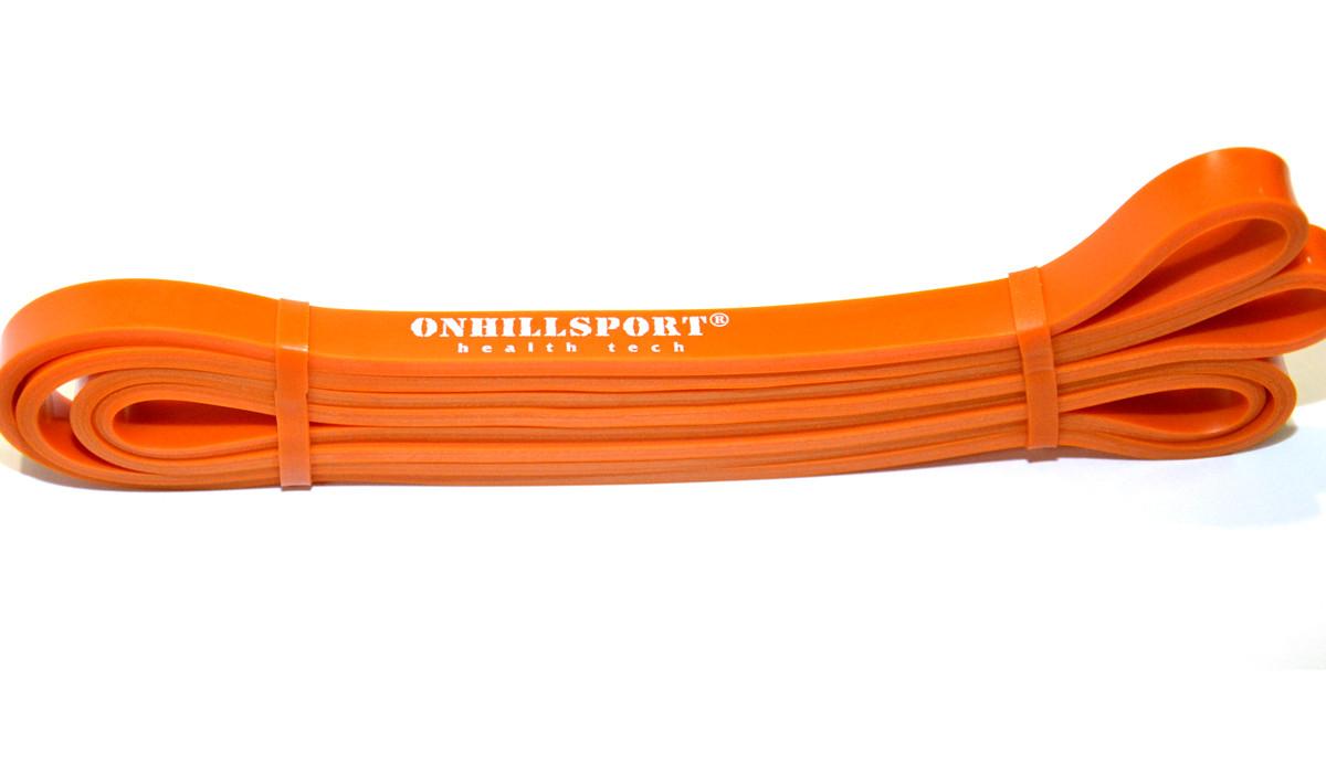 Латексная петля для фитнеса 2080 (ширина 13 мм оранжевая 3-16 кг)