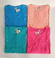 Ночная рубашка женская хлопок на байке Мария Нічна сорочка бавовна
