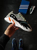 Кроссы Adidas yeezy 700 разноцветные. Беговые женские кроссовки Адидас Изи 700 с белой подошвой