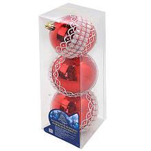 Елочные шарики 8см 3шт/уп