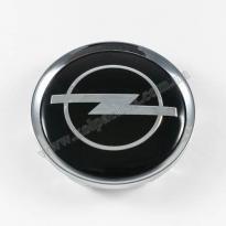 Колпачок для диска   Opel черный/хром лого для дисков Rial Alutec N32 (64 мм)