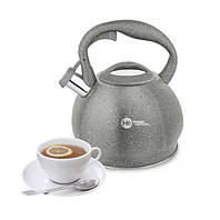 Чайник со свистком HIGHER+KITCHEN ZP-020 3.5 л Серый
