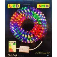 Лента LED шланг прямоугольный 2835 10м. с контр. на 220V (Микс)