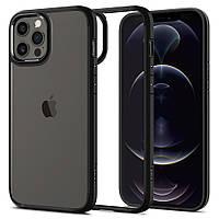 Чехол Spigen для iPhone 12 / 12 Pro Ultra Hybrid, Matte Black (ACS01703)