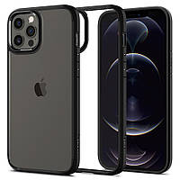 Чохол Spigen для iPhone 12 / 12 Pro Hybrid Ultra, Matte Black (ACS01703), фото 1