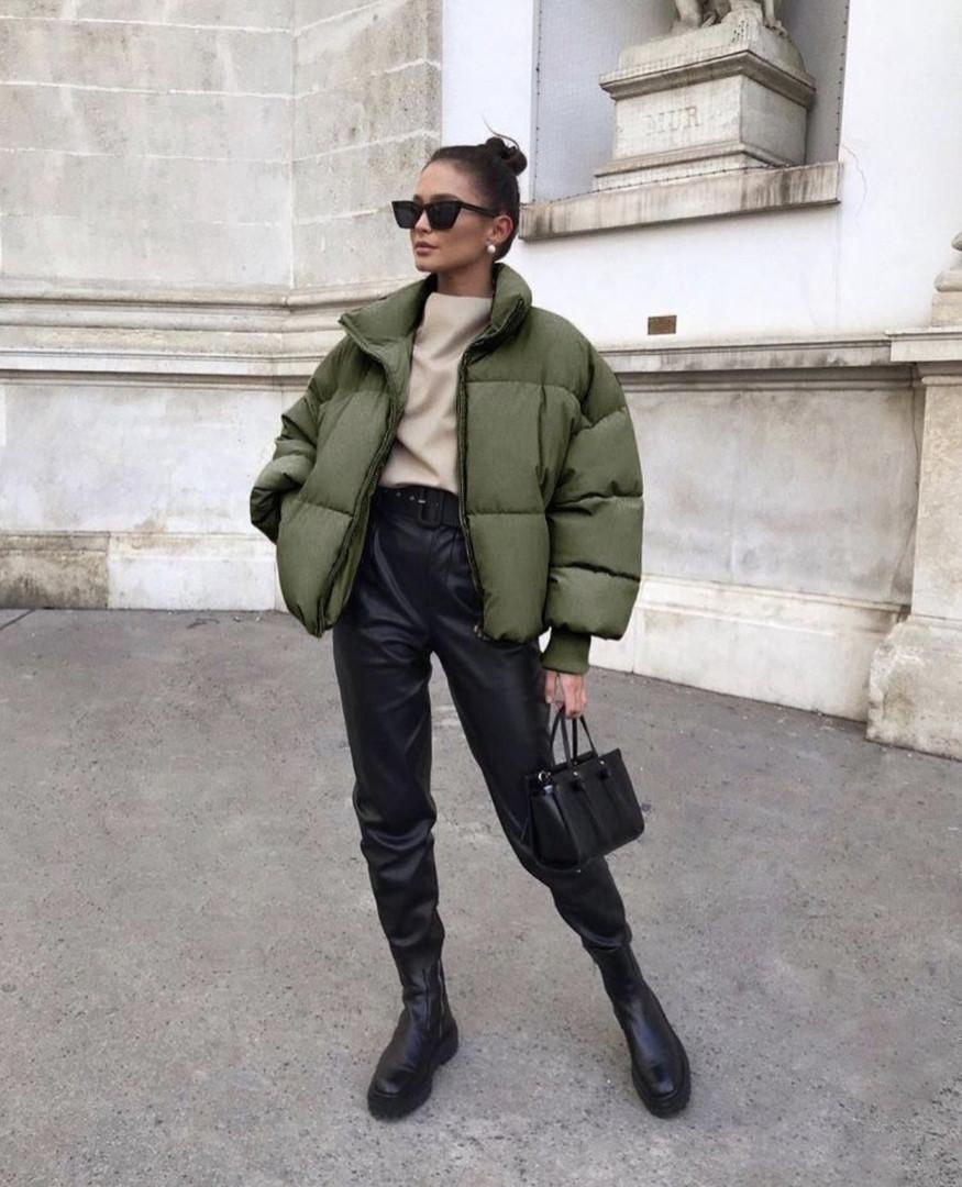 Женская куртка, плащёвка Канада + синтепон 200, р-р 42-44; 44-46 (хаки)