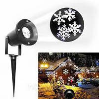 Проектор лазерный Star Shover СНЕГ Snowflake №608 ZP3 лазерная подсветка для дома