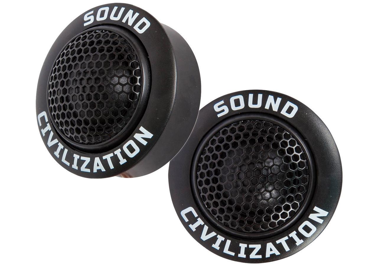 """Автомобільна акустика Kicx Sound Civilization T26 Твітер 1-2"""" (2.5-5 см)"""