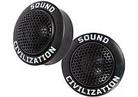"""Автомобільна акустика Kicx Sound Civilization T26 Твітер 1-2"""" (2.5-5 см), фото 1"""