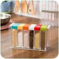 Набор емкостей для специй Seasoning Set на 6 емкостей, Емкости для специй 6 предметов