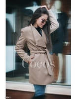 Кашемировое пальто короткое