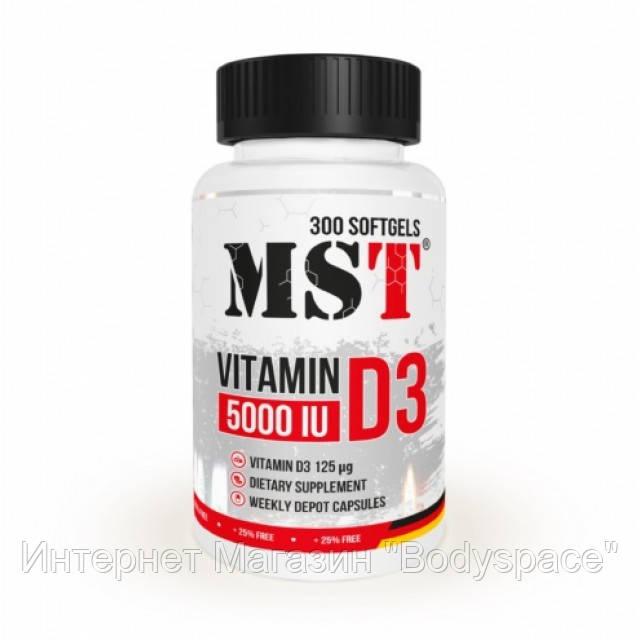 MST Sport Nutrition, Витамин Vitamin D3 (5000 IU), 300 капсул