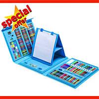 Набор Юного художника Vion для рисования 208 предметов с мольбертом голубой