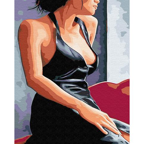 "Картина по номерам Brushme ""Девушка у окна"" 40х50см, GX30473"