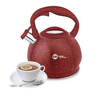 Чайник со свистком HIGHER+KITCHEN ZP-020 3.5 л Кирпичный