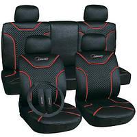 Чехлы на сиденья универсальные, авточехлы MILEX/Classic AG-72621 полный к-т/2пер+2задн+5подг/черные (AG-72621)