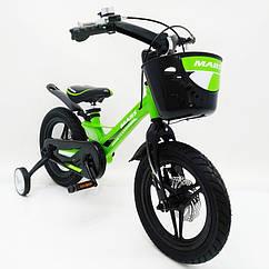 Детский двухколесный велосипед MARS-2 Evolution 14 дюймов зеленый