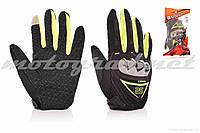 Перчатки мото AXIO #AX-01, XL, зеленые, сенсорный палец
