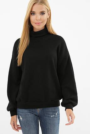 Модный женский свитер-гольф с манжетами на рукавах Размеры S M L XL, фото 2