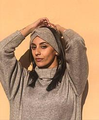 Теплая повязка чалма женская
