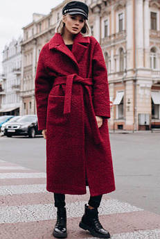 Довге пальто тканини холлофайбер Берлін