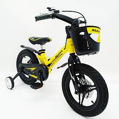 Детский двухколесный велосипед MARS-2 Evolution 14 дюймов желтый