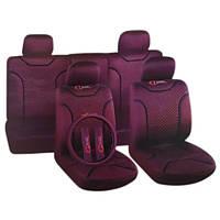 Чехлы на сиденья универсальные, авточехлы MILEX/Classic полный к-т/2пер+2задн+5подг/бордовые (AG-72625)