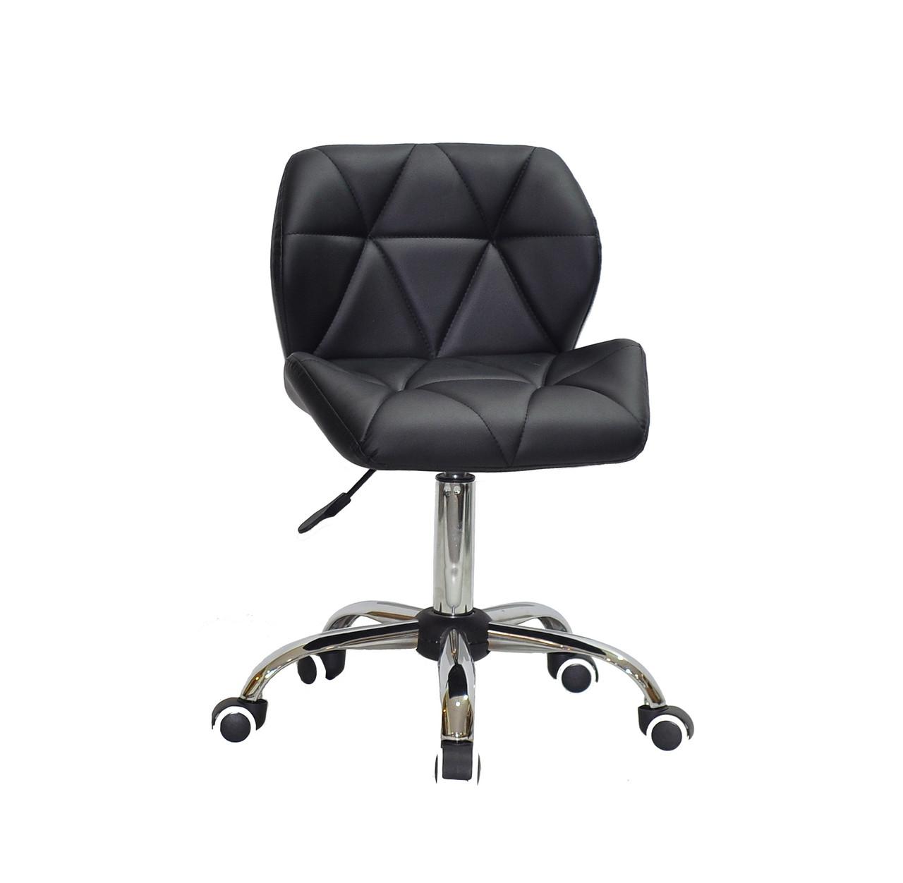 Черное кресло офисное на колесиках светло-серое SET CH-Office в эко-коже