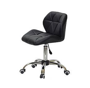 Черное кресло офисное на колесиках светло-серое SET CH-Office в эко-коже, фото 2