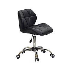 Черное кресло офисное на колесиках светло-серое SET CH-Office в эко-коже, фото 3