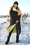 Куртка женская двусторонняя. Размеры: 42-46, 48-52. Цвет: малиновый/черный, черный/лимонный, черный/оливковый., фото 8