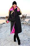 Куртка женская двусторонняя. Размеры: 42-46, 48-52. Цвет: малиновый/черный, черный/лимонный, черный/оливковый., фото 3