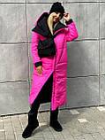 Куртка женская двусторонняя. Размеры: 42-46, 48-52. Цвет: малиновый/черный, черный/лимонный, черный/оливковый., фото 6