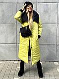 Куртка женская двусторонняя. Размеры: 42-46, 48-52. Цвет: малиновый/черный, черный/лимонный, черный/оливковый., фото 7